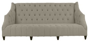 Turner Hollywood Regency Antique Button Tufted Tusk Sofa - cooking utensils - Kathy Kuo Home