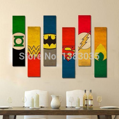 superhero canvas painting - Google Search