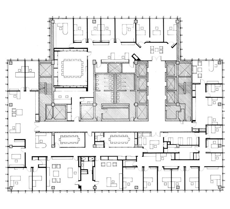 Seagram building plan in the seagram building roof for Building plan drawing