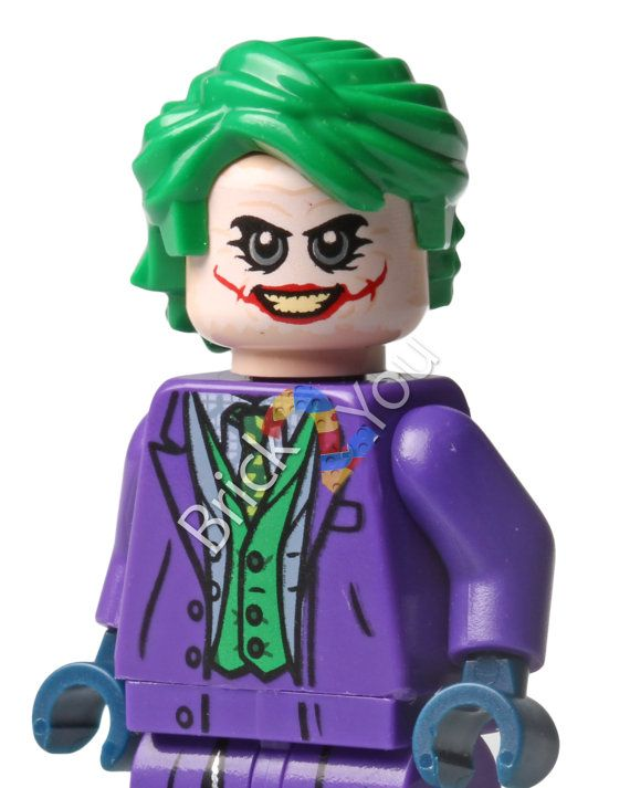 LEGO Joker Minifigure Photo from The Tumbler 76023 by Brick2you