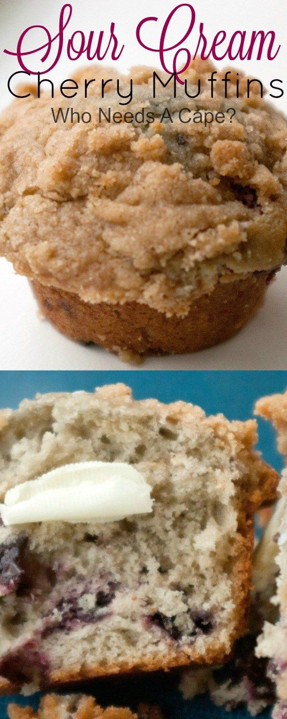 These are the most moist muffins I have ever had. Sour Cream Cherry Muffins are…