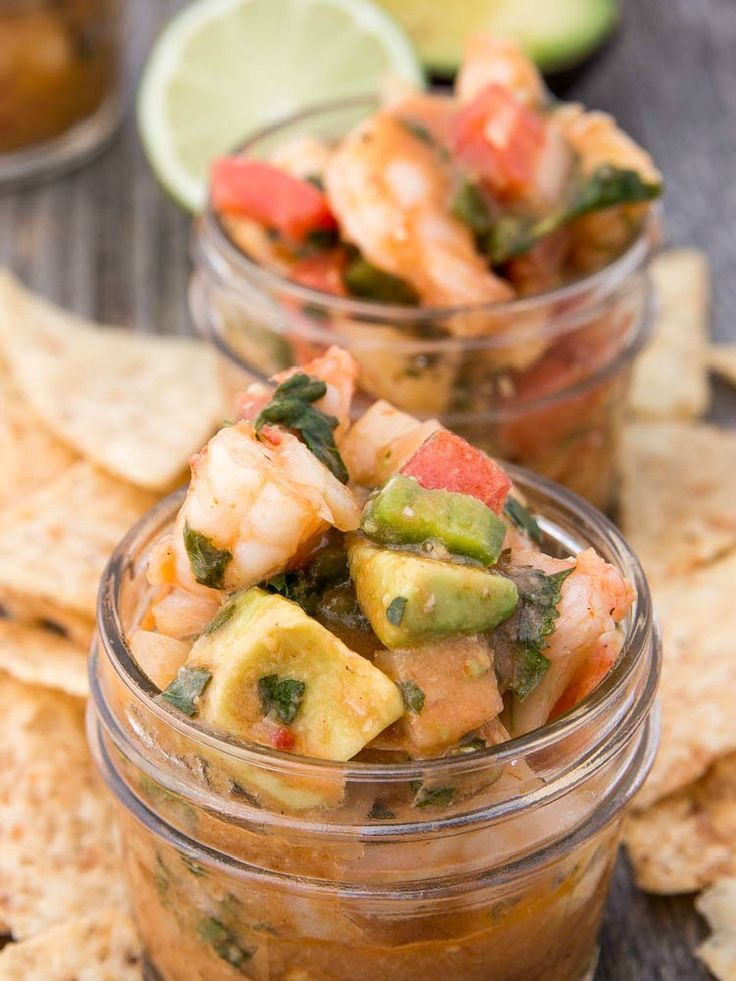 Mini Mexican Shrimp Cocktail | Fitness Food Diva