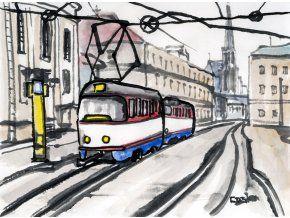 Caska T3 Olomouc FB - obraz na plátně