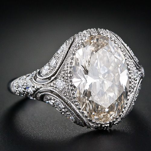 platinum, 4.4 carat oval diamond   Wow!!