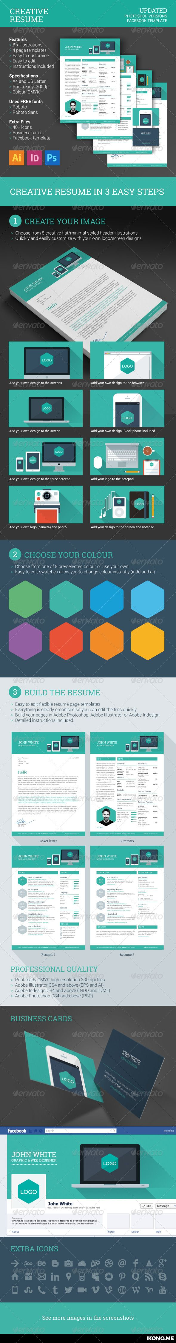 Best Creative Resume Template Images By IkonoMe On