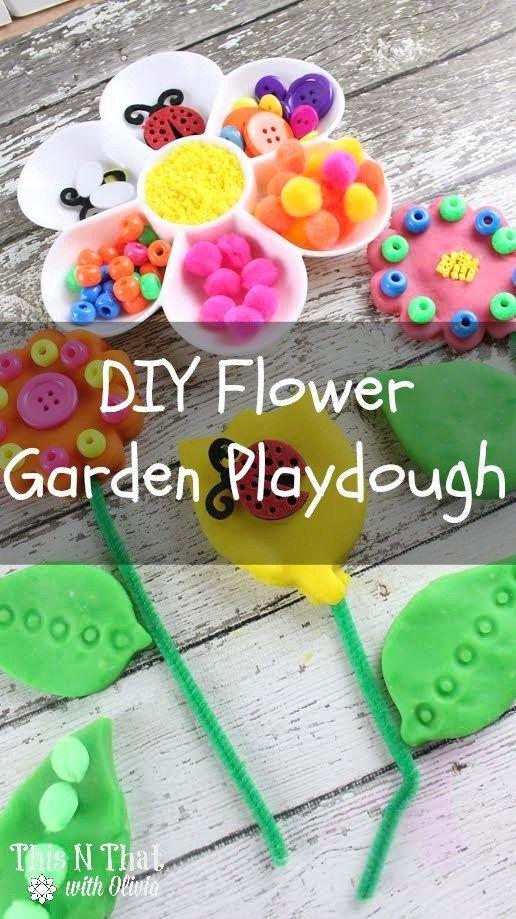 DIY Flower Garden Playdough!