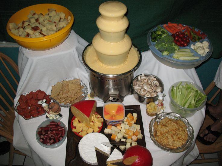 cheese fountain. so much yummier than chocolate