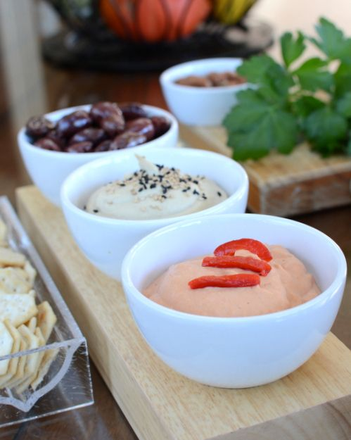 Red Pepper Hummus, another easy vegan appetizer ♥ A Veggie Venture