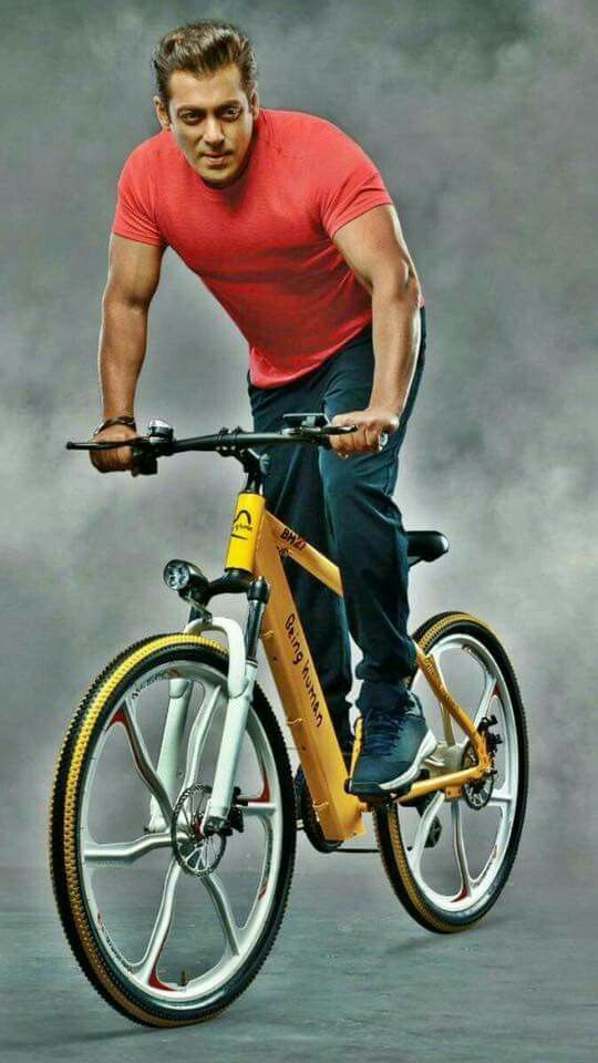 e cycle being human... Salman khan...