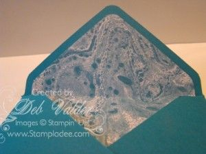 How to make Envelope Liners with the Envelope Punch Board with Deb Valder www.stampladee.com