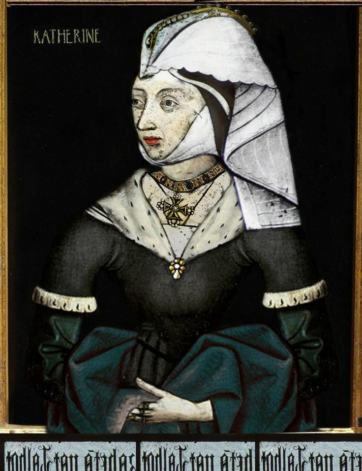 RED ROSE~~ Katherine of Valois was a wife of Henry V, mother of Henry VI. Later she was wed with Owen Tudor and became mother to Edmund, Jasper, Margaret, Catherine and Tasinda Tudor. So she was a paternal grandmother of Henry VII
