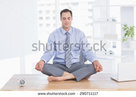 Businessman relaxing on his office