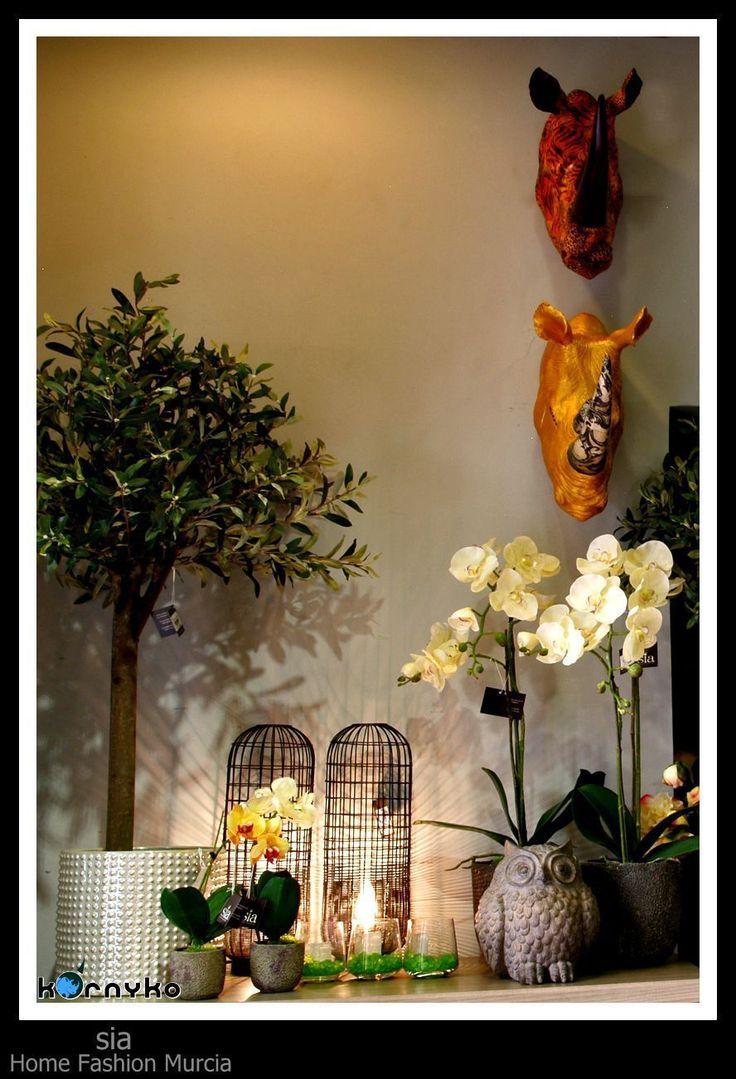 Cabezas de rinocerontes en SIA #decoración #taxidermia #máscaras