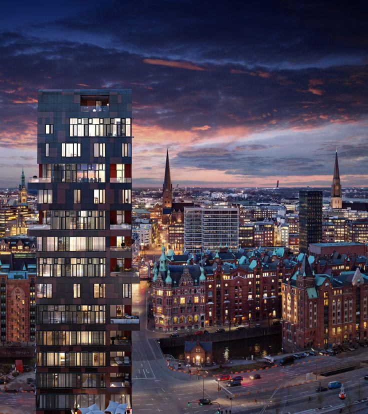 Cinnamon Tower, Hamburg HafenCity (BDS) | Home is nun mal where your heart is ♡ Hamburg ist unsere große Liebe, wir gehören zu Hamburg wie Batman zu Robin, wie Sherlock zu Watson, wie Udo zu seiner Sonnenbrille | Bilder und Impressionen von unserer Heimat | #hamburgliebe #hamburg #hamburgbilder