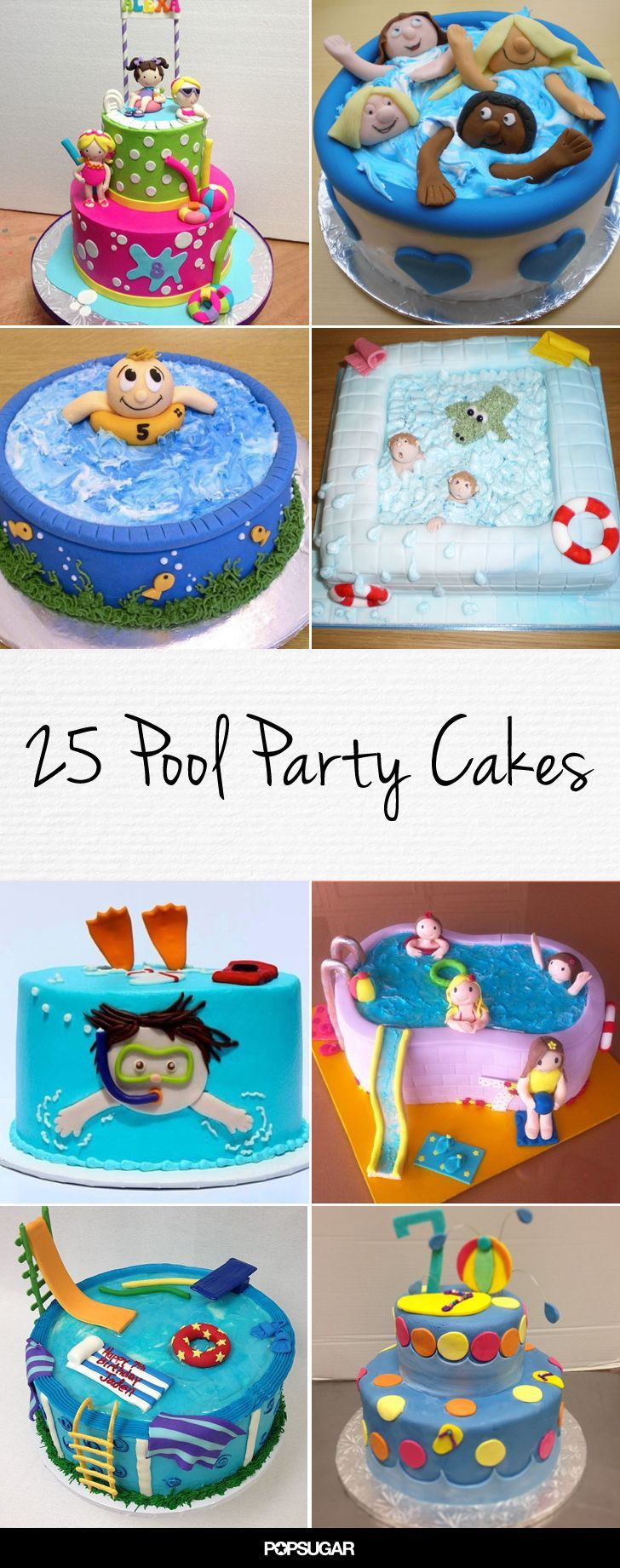 25 pool party cakes