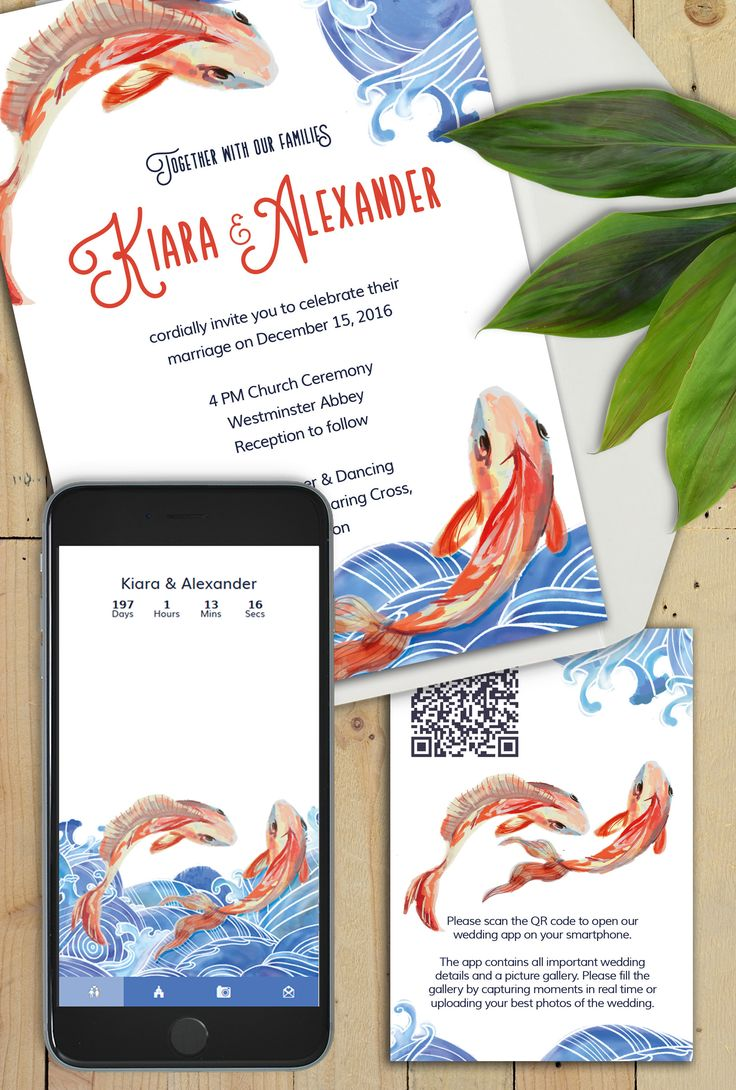 Koi fishes swim against currents and stand for strong relationships - perfect theme for any wedding!!