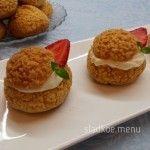 Пирожные шу с клубничным мармеладом и кремом «дипломат» | Сладкое Меню