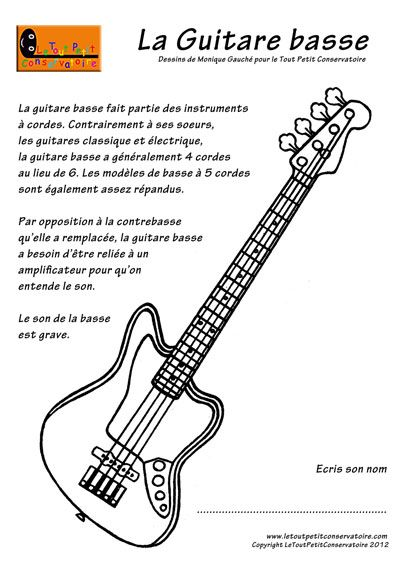 Guitare basse.