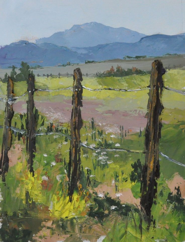 Carson Valley Fields Sketch 4 Oil on canva Paper 6x8: