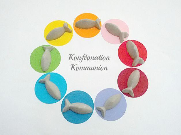 Dekoration - 10x Kommunion Konfirmation Tischdeko Fische Deko - ein Designerstück von Betonverliebt bei DaWanda