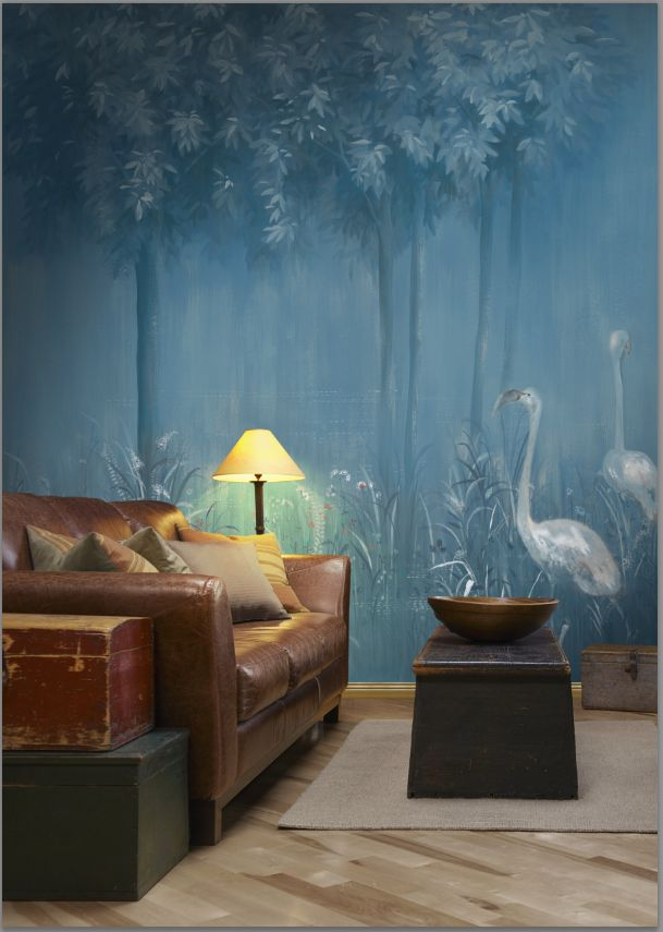 Hand-painted wallpaper by Picta. Magic Forest collection.