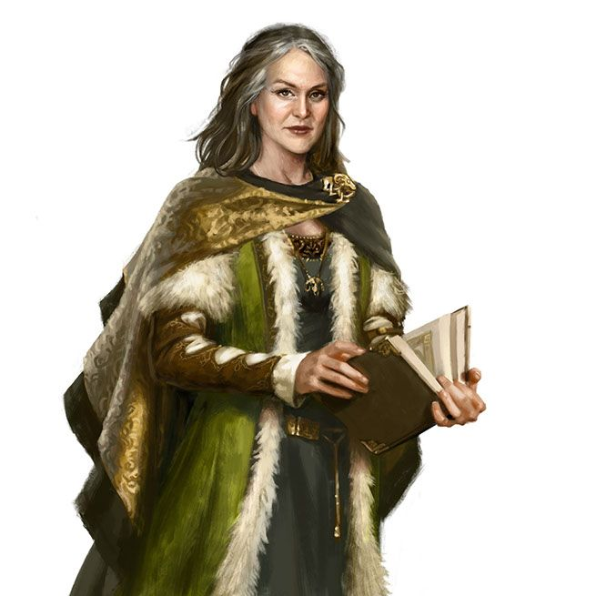 Her Grace, Claire Fitzhue-Roumi, Duchess of Proskur, Left Hand of the Queen.