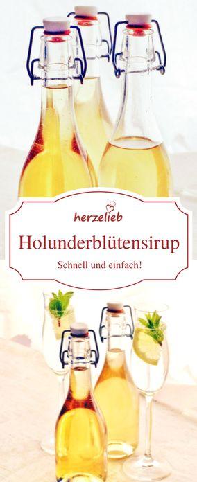 Holunderblüten Rezept: Sirup aus Holunderblüten - Holunderblütensirup von herzelieb