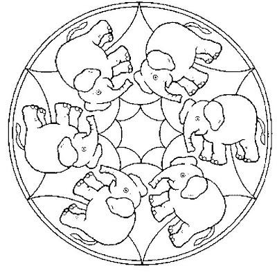 Mandala d'elefants