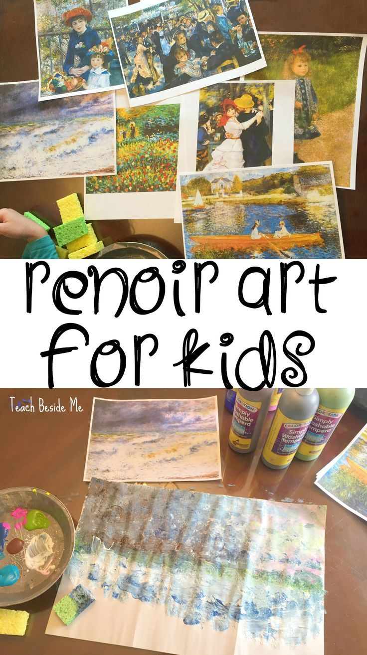 Renoir Art Project for Kids via @Karyn ~ Teach Beside Me
