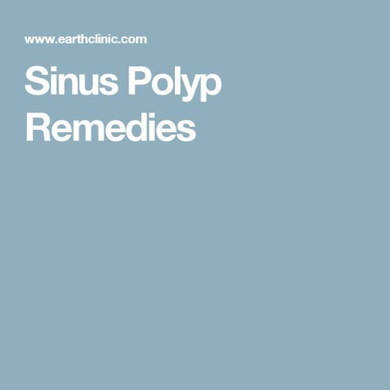 Sinus Polyp Remedies