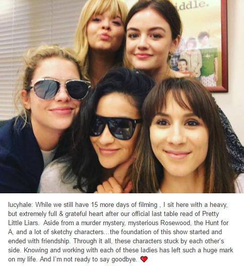 PLL girls - the official last table read of Pretty Little Liars.
