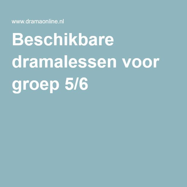 Beschikbare dramalessen voor groep 5/6