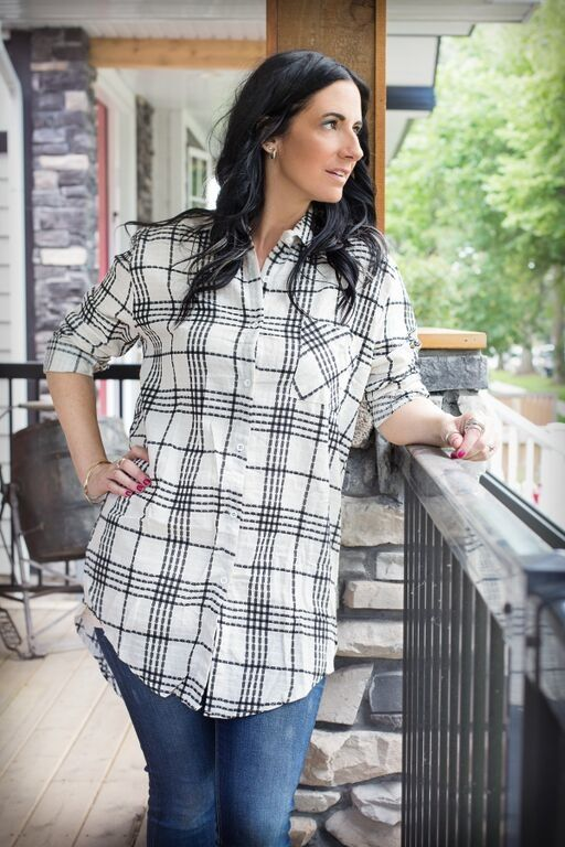 Image of Textured Plaid Button-Down