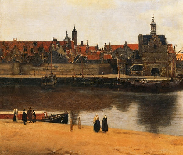 Vermeer--View of Delft and fascinating commentary on painting at http://kalden.home.xs4all.nl/verm/view/Vermeer_main.html