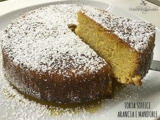 torta soffice arancia e mandorle