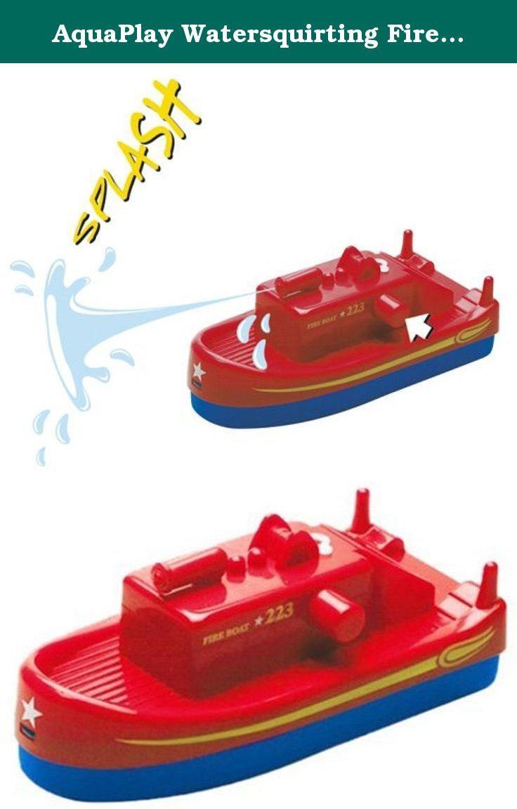 AquaPlay Watersquirting Fireboat. AquaPlay's squirting fire boat is great fun to play with in the bath tub and the perfect accessory to any of AquaPlay's canal systems.