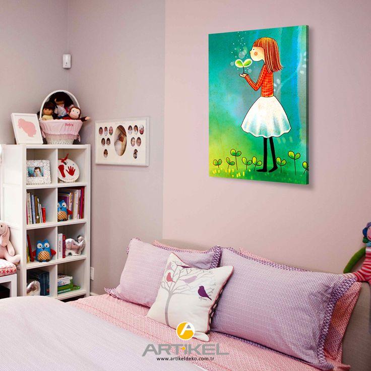 """""""Bir Aşk Hikayesi"""" Kanvas tablo ile çocuk odanızda fark yaratabilirsiniz... #kanvastablo #dekorasyonfikirleri #art"""