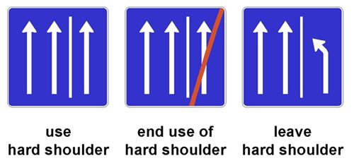 Figure 29. Illustration. Temporary Hard Shoulder Use Signs—Germany. A sign with…