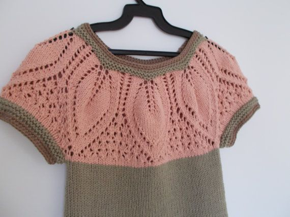 Knitted and Crocheted Vest Ready to ship by vivighiocel on Etsy