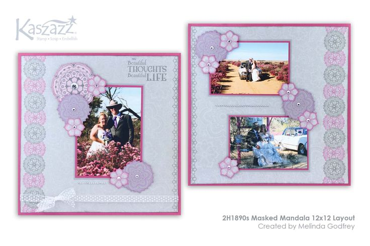This project will show you how to create a stunning double scrapbooking layout using the Mandala range of stamps and SB Papers.