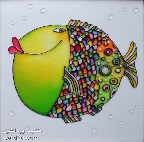 تابلوهات رسم على الزجاج ابداع الفنانة Julia Slepchenko