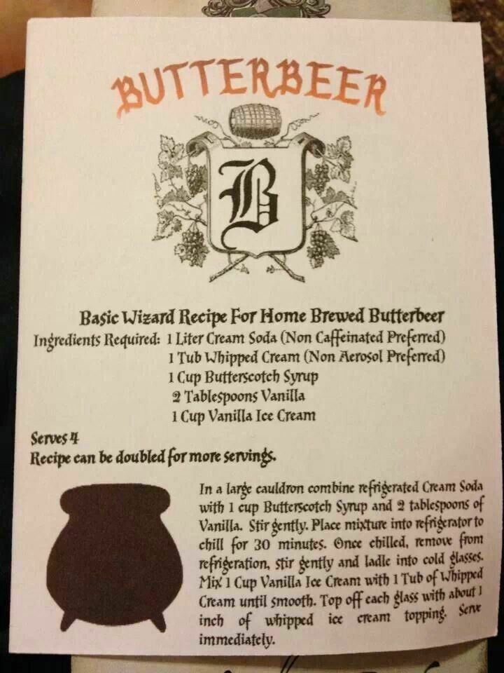 Butter Beer Harry Potter Butter Beer Harry Potter Drinks Harry Potter Food