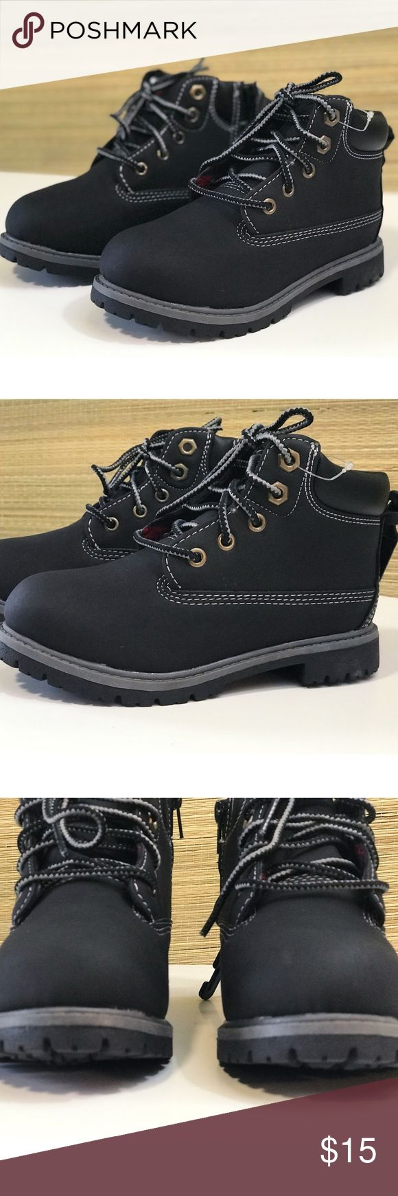 Children Boys Black Walking Boots New! Cute toddler and little boys boots! New Faded Glory Shoes Boots