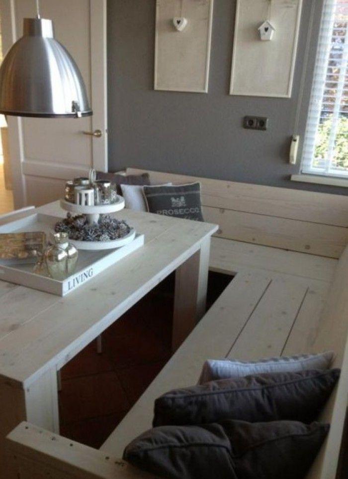 Hoekbank voor in de tuinkamer interieur pinterest for Interieur keuken ideeen