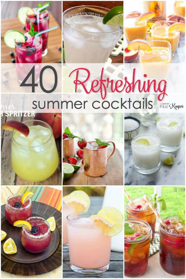 40 Summer Cocktail Recipes - Kick back and relax with these 40 simple cocktail recipes for summer