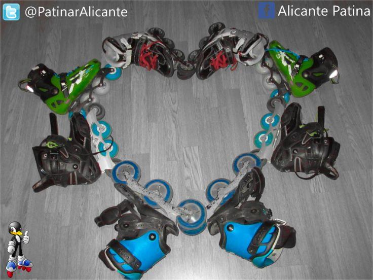 Patinaje en Alicante: We Love Skate #Roller #inline #blading #powerslide #rollerblade #sebaskates #skates #fsk #freeskate #Alicante #porusski #life #love #style #doop #patines #patinaje #patins