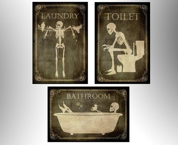 Toilet bathroomLaundry by TotalLost on Etsy