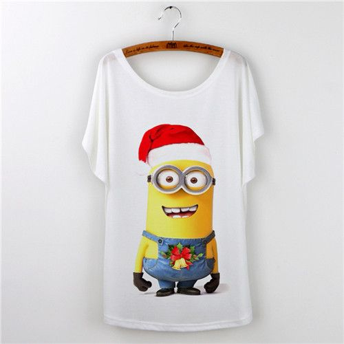 New 2016 casual t shirt women cartoon minions print o-neck short sleeve harajuku t-shirt camisetas mujer Loose tee shirt femme