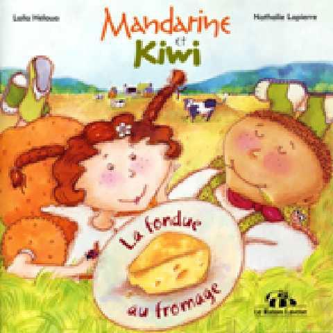 La fondue au fromage- Mandarine et son petit frère Kiwi visitent la ferme des Bavard. Tout en côtoyant les impressionnantes vaches laitières, frère et soeur découvrent d'où vient le fromage et apprennent les règles de l'art de sa fabrication. En prime : une savoureuse recette de fondue au fromage qui met l'eau à la bouche !