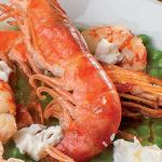Photo of Recipe Crustacean soup with peas and burrata cream